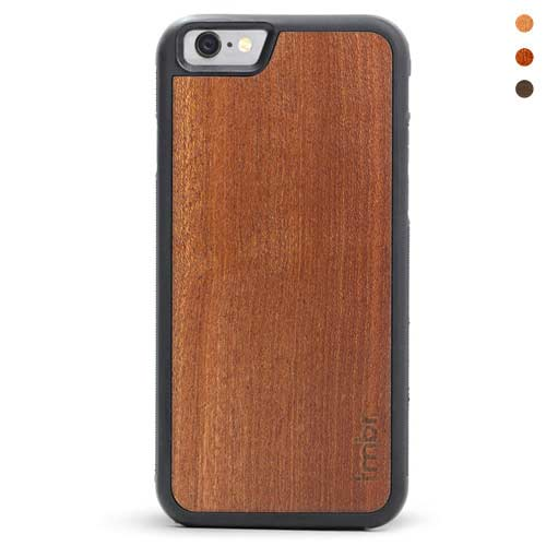 iPhone 6 Leather Wallet Case Wood