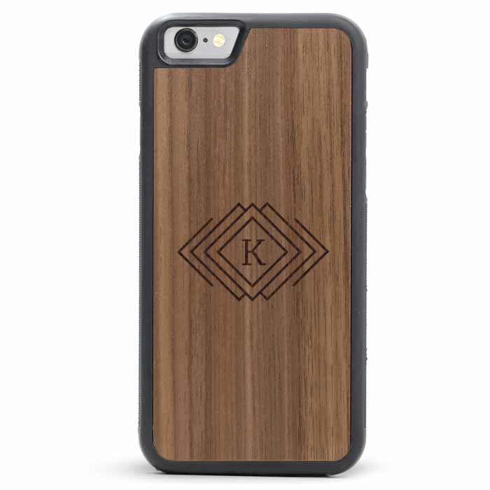Wood iPhone 6/6s Plus Case - Monogram Diamonds