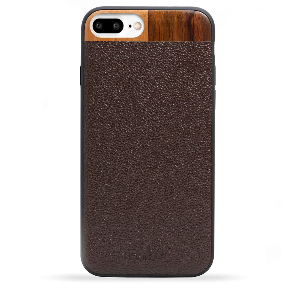 Brown Leather & Wood iPhone 7 plus Phone Case