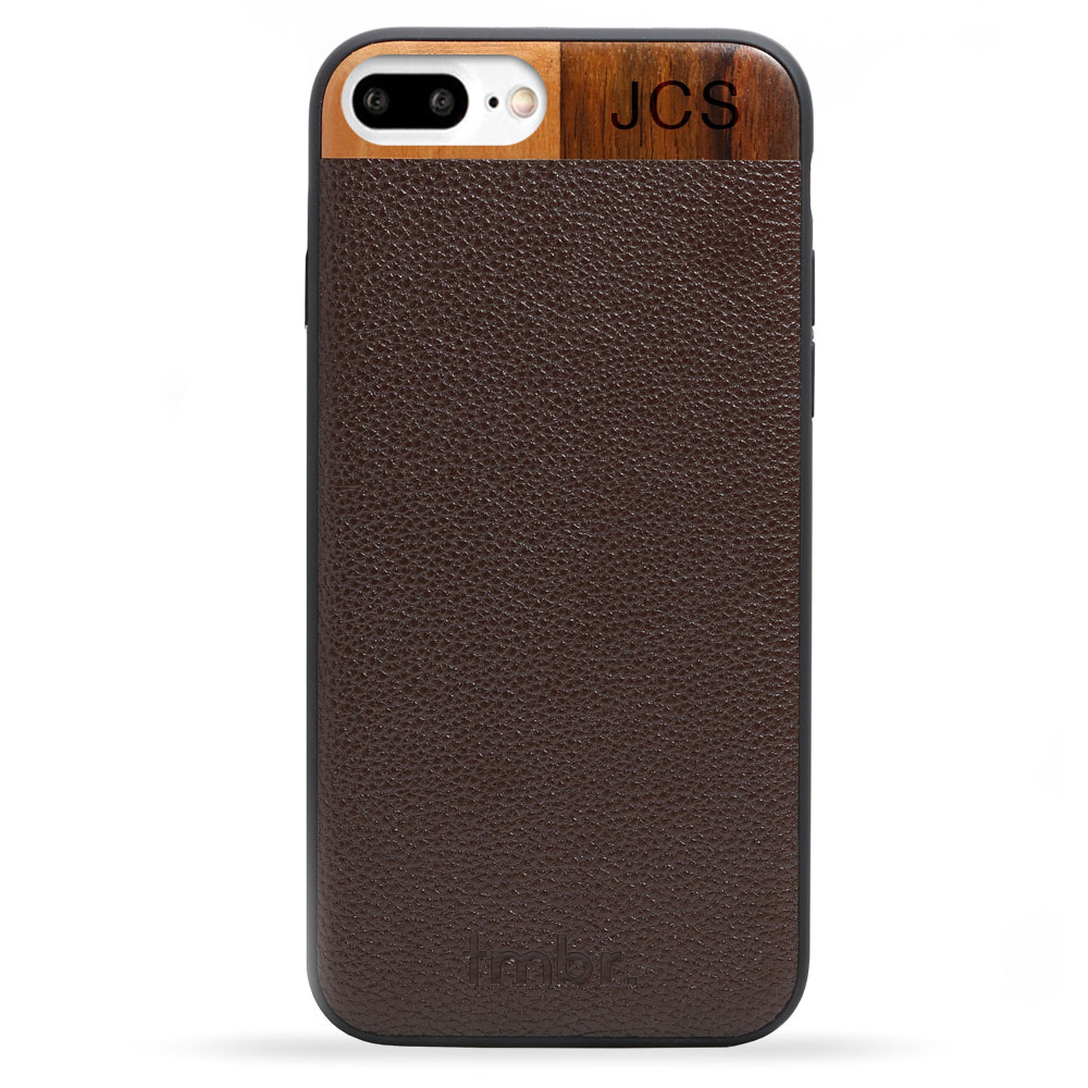 Brown Monogram Leather & Wood iPhone 7 plus Phone Case