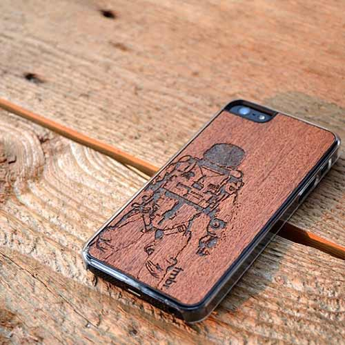 Laser Engraved Wood iPhone 7 Cases