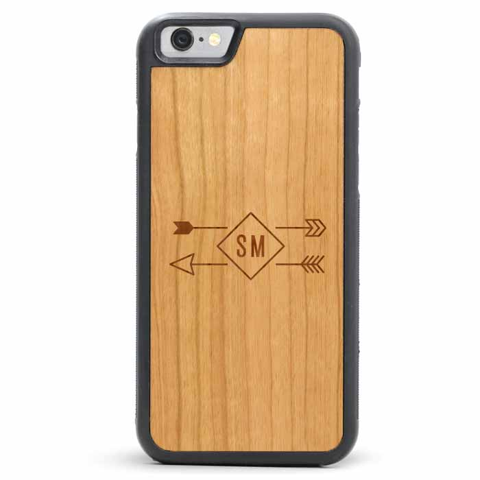 Wood iPhone 6/6s Plus Case - Monogram Arrows