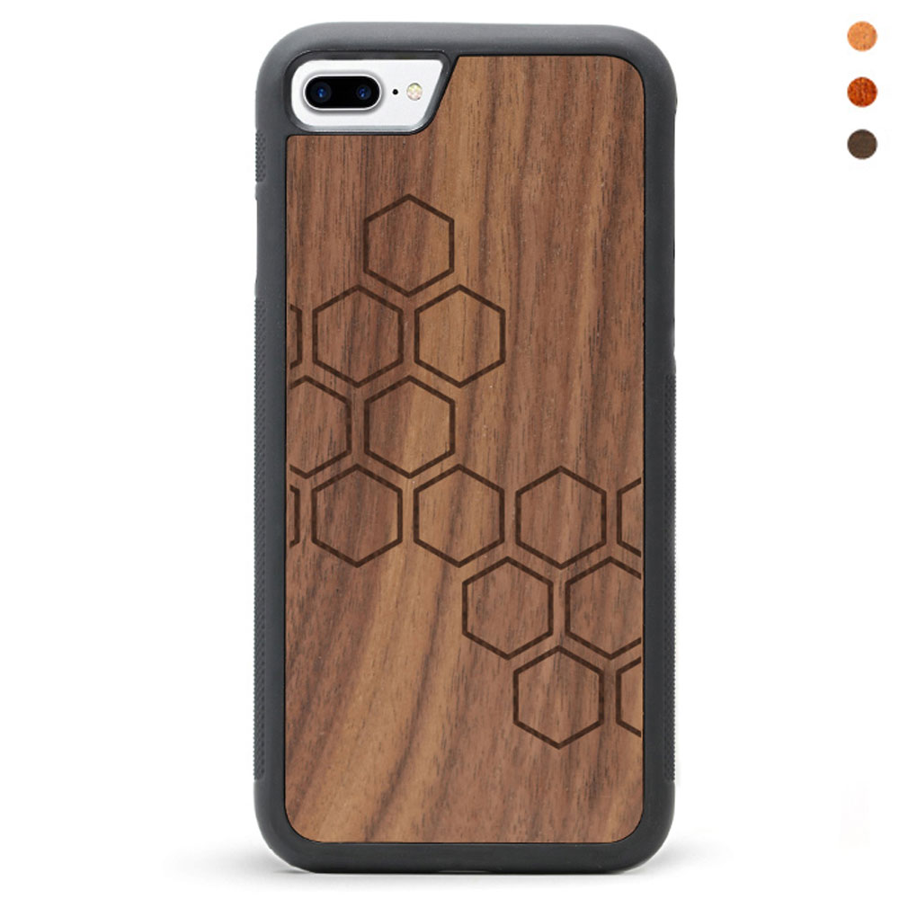 Wood iPhone 7 Phone Case Honeycomb