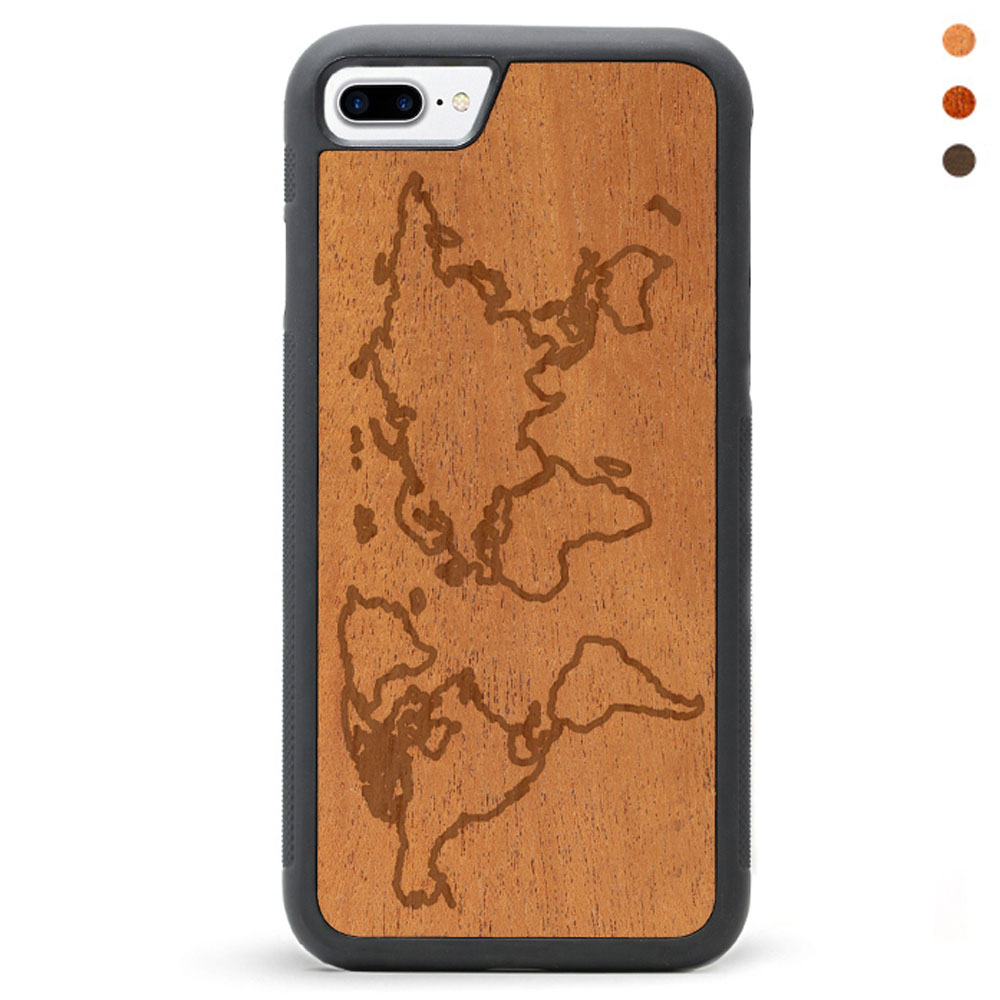 Wood iPhone 7 Phone Case Map