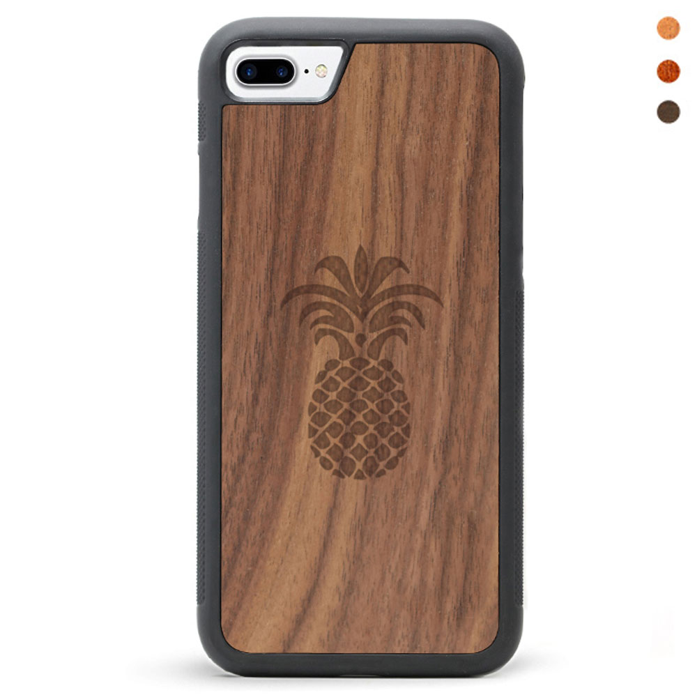 Wood iPhone 7 Phone Case Pineapple