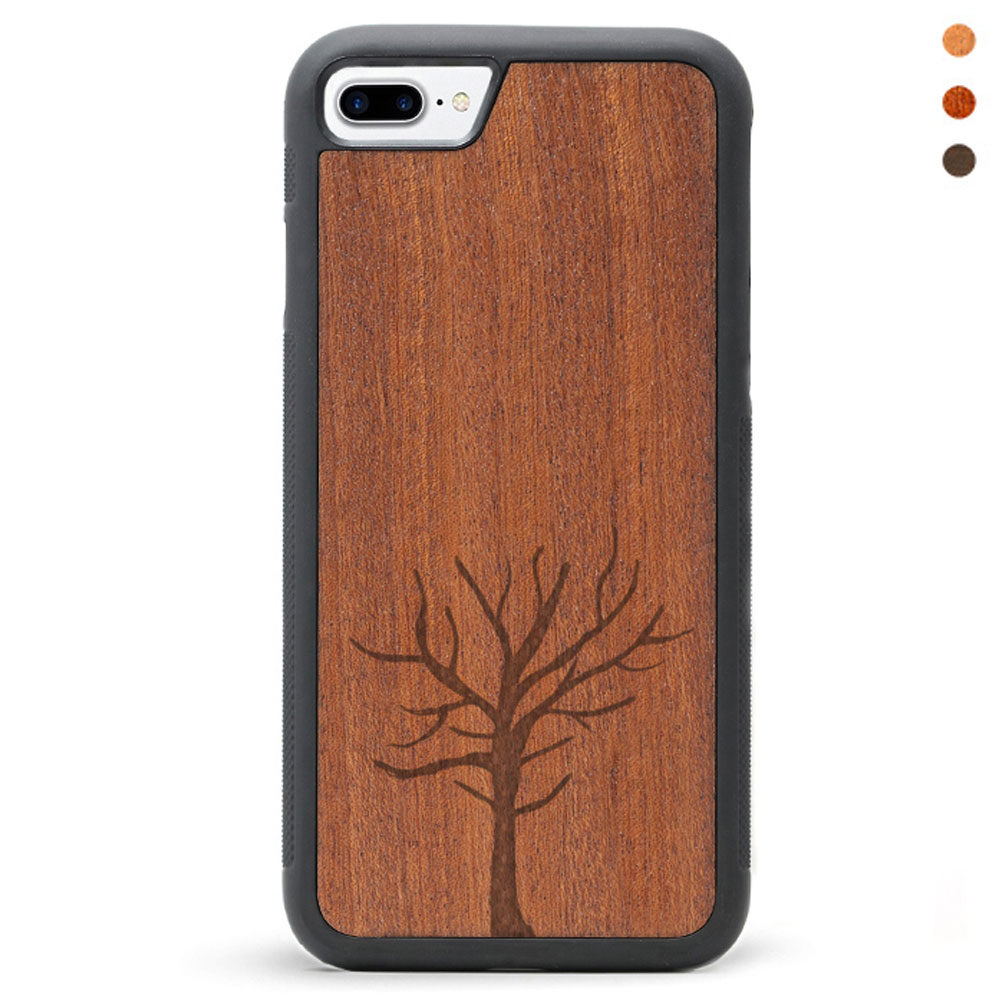 Engraved Wood iPhone 8 Case Tree