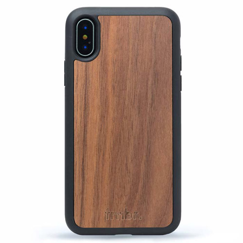 Dark Walnut Wood iPhone XS Case