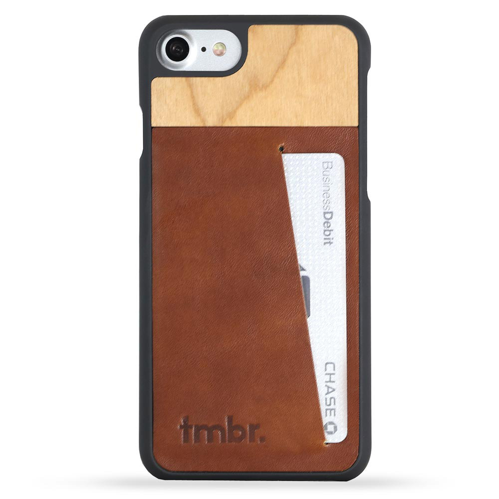 Tmbr. Scout Leather Wood Wallet iPhone 6 Card Case