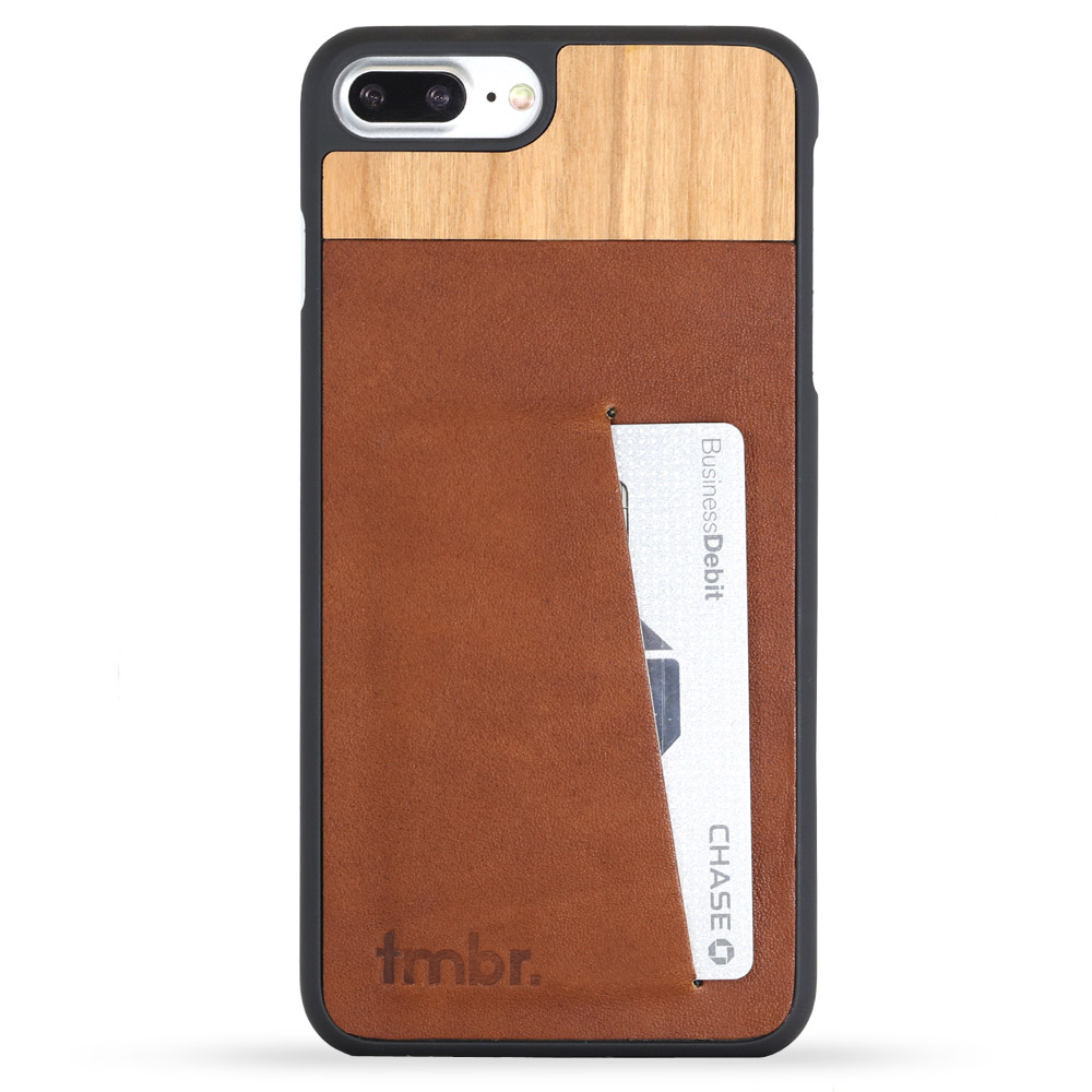 Tmbr. Scout Leather Wood Wallet iPhone 7 plus Card Case