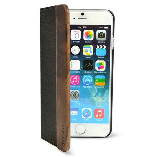 iPhone 7 Plus Folio Wallet Case Walnut