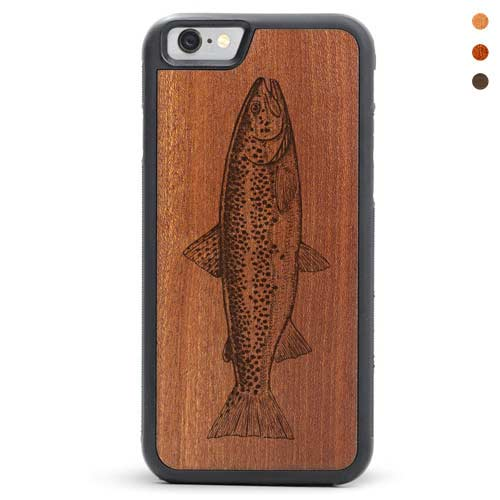 iPhone 6/6s Wood Case Fishy