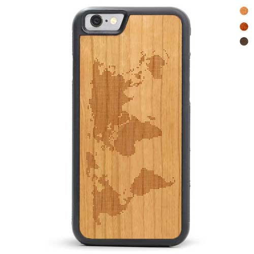 iPhone 6/6s Wood Case World Map