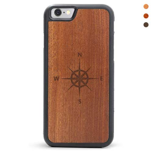 iPhone 6/6s Wood Case Wind Rose