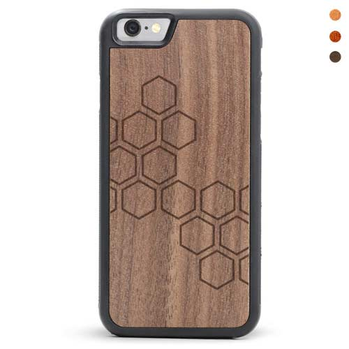 iPhone 6/6s Wood Case Honeycomb