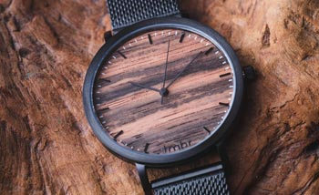 Wooden Watches - Helm Black Wood Watch