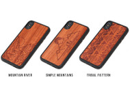 Engraved Wood Phone Case Padauk
