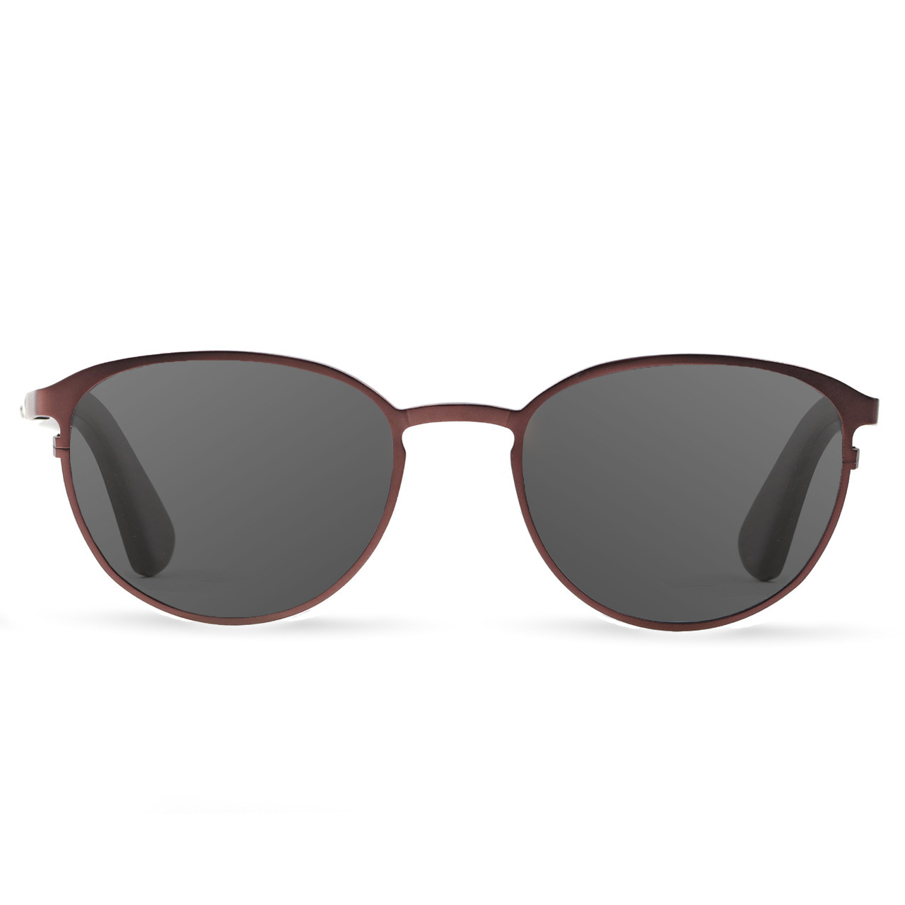 Atlas Crimson Titanium Frame Wood Sunglasses | Tmbr.