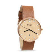 The Mill - Cherry Wood & Rose Gold Watch