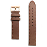 Tmbr Light Brown Leather Watch Strap / Rose Gold Clasp