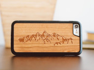 Mountains Wood iPhone Case