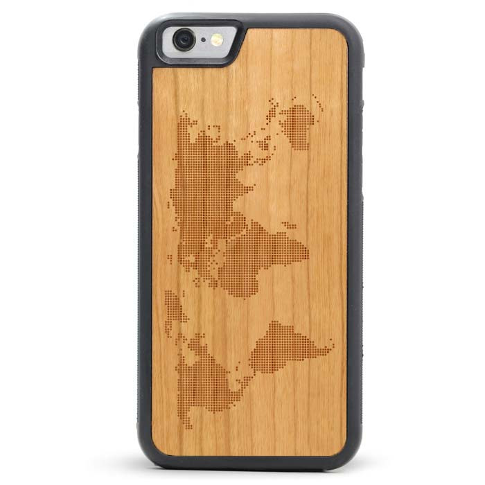 size 40 d7940 32c0b World Map Wood iPhone Case