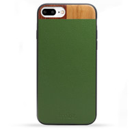 Leather & Wood iPhone 7 PLUS Case - Green