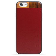 Leather & Wood iPhone 6 PLUS Case - Maroon