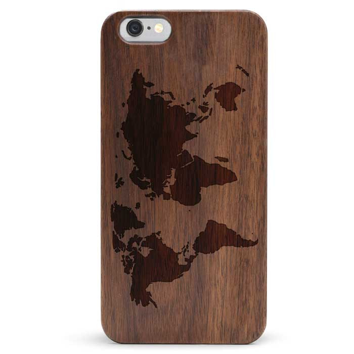 Slim Wood iPhone 6s Case - Map