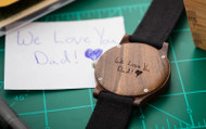 Wood Watch / Custom Handwriting
