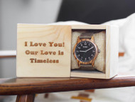 Customized Wooden Watch Box Front View