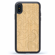 Topo Map - Wooden iPhone Case