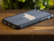 Explore Bear Wood Inlay iPhone Case
