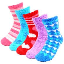 Nollia 3 Pairs Women's Warm Fuzzy Socks Size 9-12