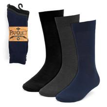 Parquet Solid Dressy Fancy Socks Size 10-13