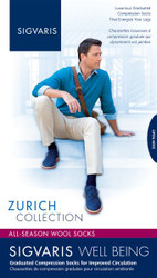 Sigvaris Zurich 15-20 mmHg All Season Wool Calf High Compression Socks for Men 192C