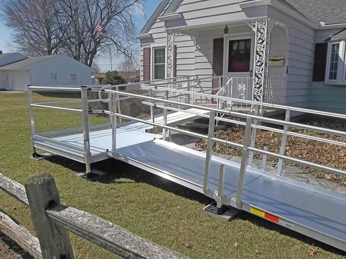 Portable modular wheelchair ramp rental medical equipment for Prefab wheelchair ramp