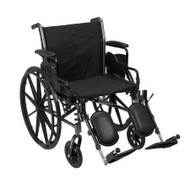 Lightweight Wheelchair McKesson Dual Axle Flip Back, Padded, Removable Mag Black