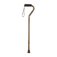 Foam Grip Offset Handle Bronze Walking Cane - rtl10307