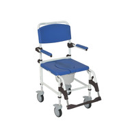 Aluminum Shower Commode Transport Chair - nrs185007