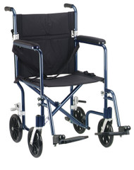 "19"" Flyweight Lightweight Blue Transport Wheelchair - fw19bl"