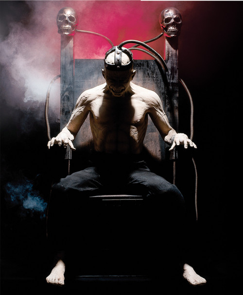Shocking electric chair halloween prop