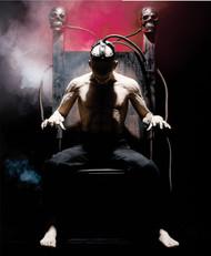 Shocking electric chair halloween prop