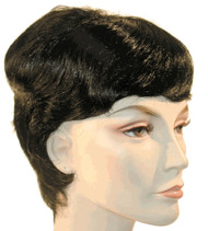 audrey hepburn look wig short hair brown black