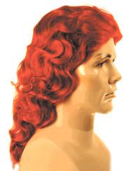 hercules costume wig red orange wavy long herculean wigs