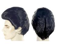 danny ducktail black mens wig 1950s wigs