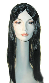 black and long straight wig that is cheap and for sale
