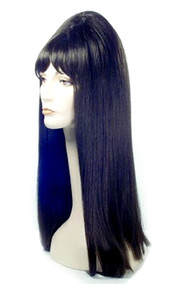 straight black Elvira Wig