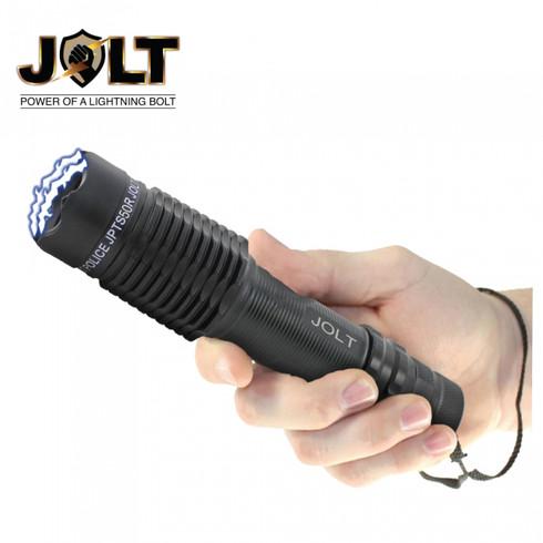 Police Tactical 50 Million Volt Heavy Duty Stun Gun Flashlight in Black with Wrist Strap by Jolt