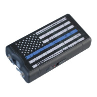 Blue Lin Stun Gun, 9 Million Volts - Support the Police Flag with Blue Line