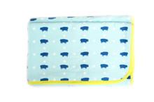 Blue Pig Stroller Blanket